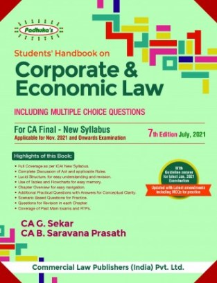 Padhukas Students Handbook Corporate Economic Law G. Sekar