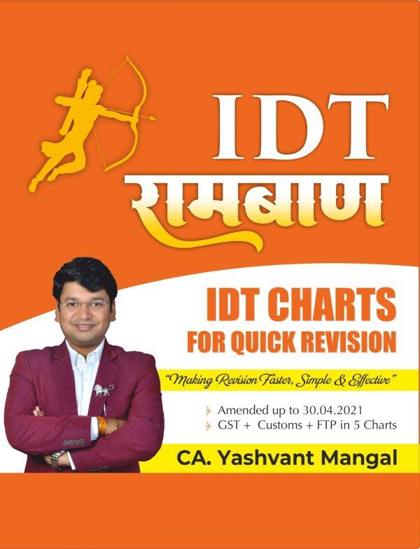 CA Final IDT Ramban Charts (GST Custom FTP) By CA Yashvant Mangal
