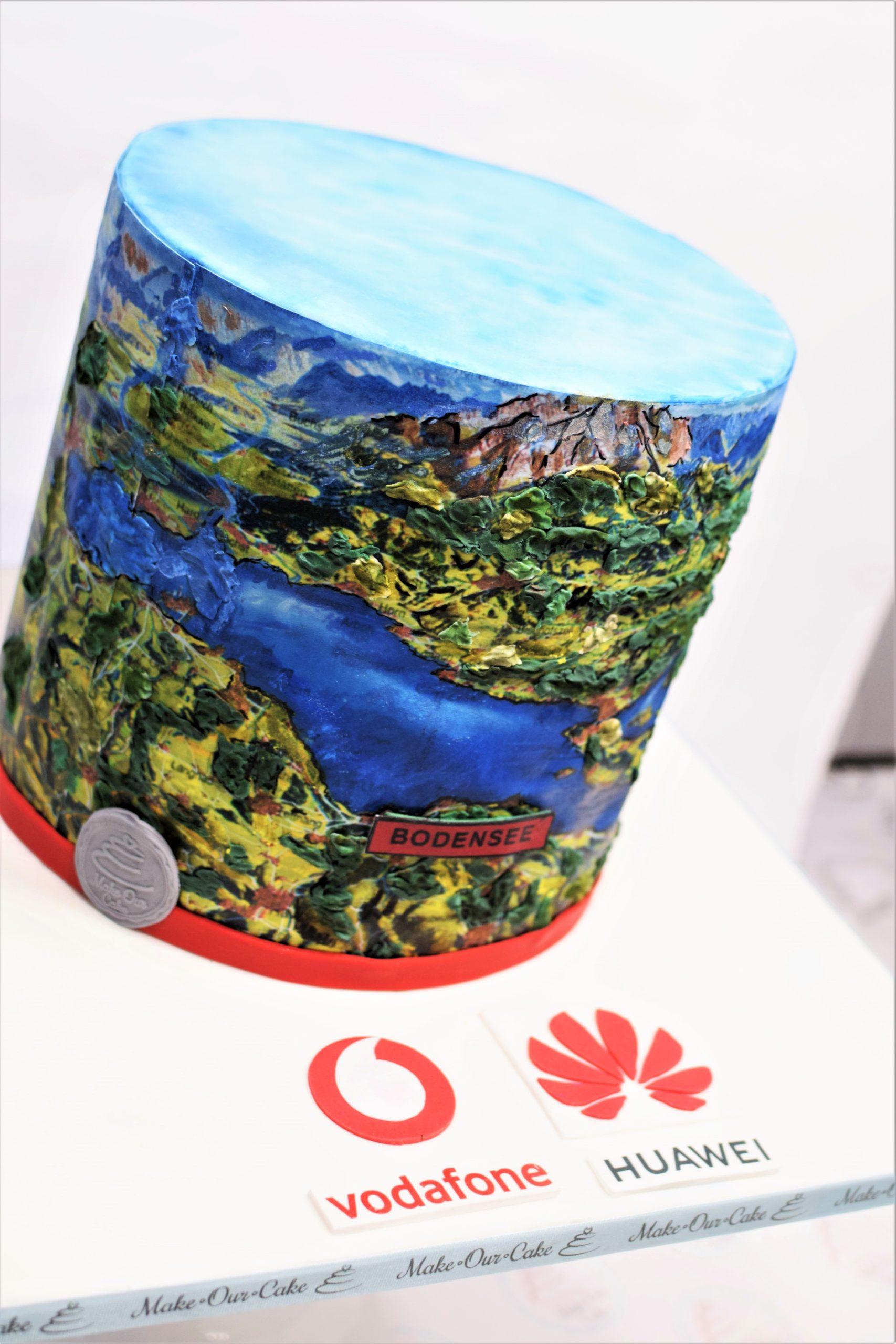 Huawei cake