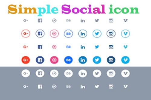 Simple Social icon