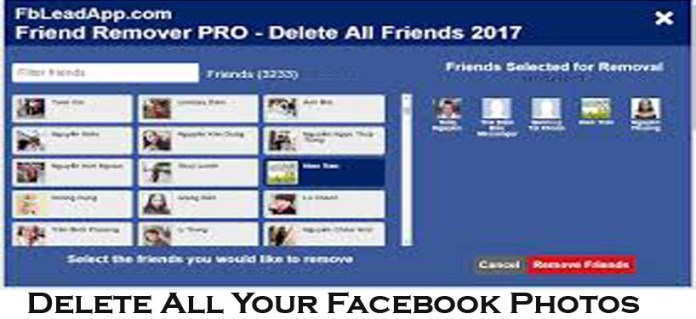 Delete All Your Facebook Photos - www.Facebook.com