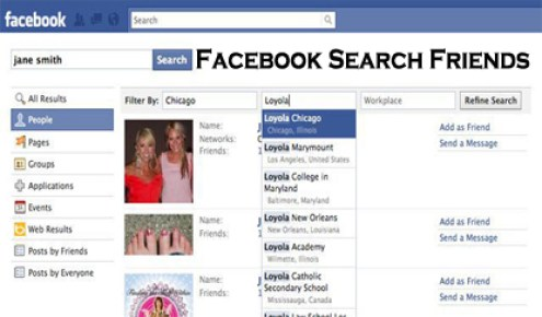Facebook Search Friends - Facebook Account