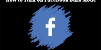 How to Turn On Facebook Dark Mode