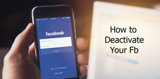 How to Deactivate Your Fb