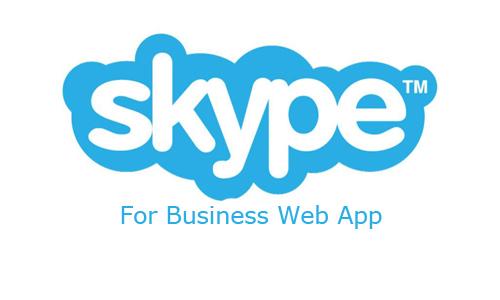 Skype For Business Web App
