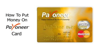 How To Put Money On Payoneer Card