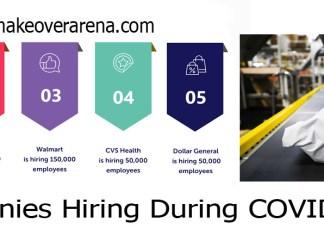 Companies Hiring During COVID-19