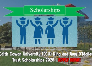 Edith Cowan University (ECU) King and Amy O'Malley Trust Scholarships 2020
