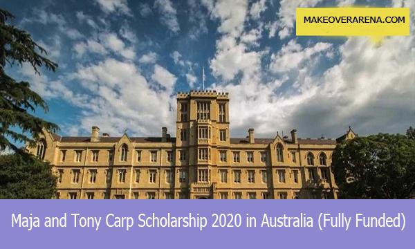 Maja and Tony Carp Scholarship 2020 in Australia (Fully Funded)