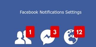 Facebook Notifications Settings