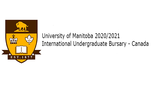University of Manitoba 2020/2021 International Undergraduate Bursary - Canada