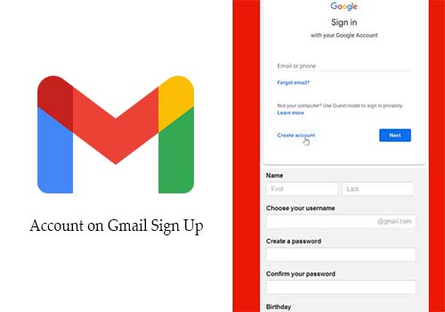Account on Gmail Sign Up