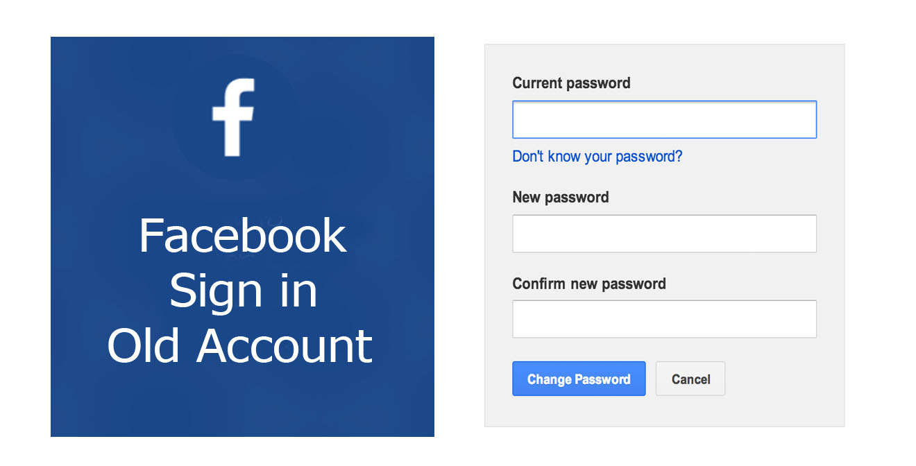 Facebook Sign in Old Account  Recover Facebook Account  Facebook