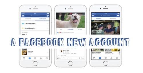 A Facebook New Account