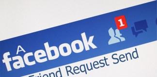 A Facebook Friend Request Send