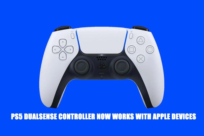 PS5 DualSense controller Now Works with Apple Devices