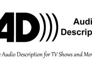 The Audio Description for TV Shows and Movies