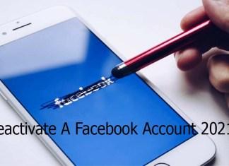 Deactivate A Facebook Account 2021