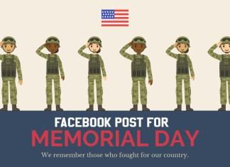 Facebook Post for Memorial Day