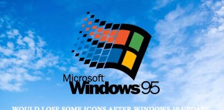 Windows 95 Would Lose Some Icons After Windows 10 Update