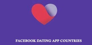 Facebook Dating App Countries
