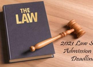 2021 Law School Admission Test Deadlines