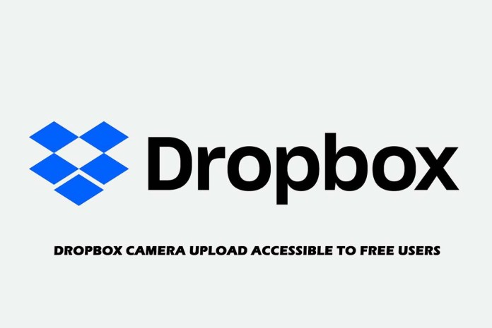 Dropbox Camera Upload Accessible to free Users