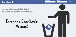 Facebook Deactivate Account