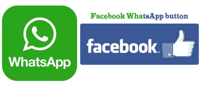 Facebook WhatsApp button