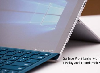 Surface Pro 8 Leaks with 120Hz Display and Thunderbolt Support