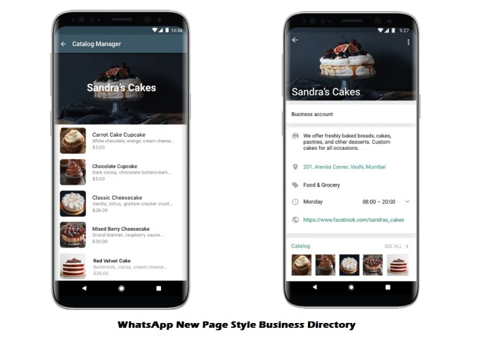 WhatsApp New Page Style Business Directory