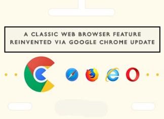 A Classic Web Browser Feature Reinvented Via Google Chrome Update