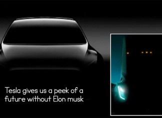 Tesla gives us a peek of a future without Elon musk