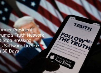 Former President Trump's Truth Network to Stop Breaking Its Software License in 30 Days