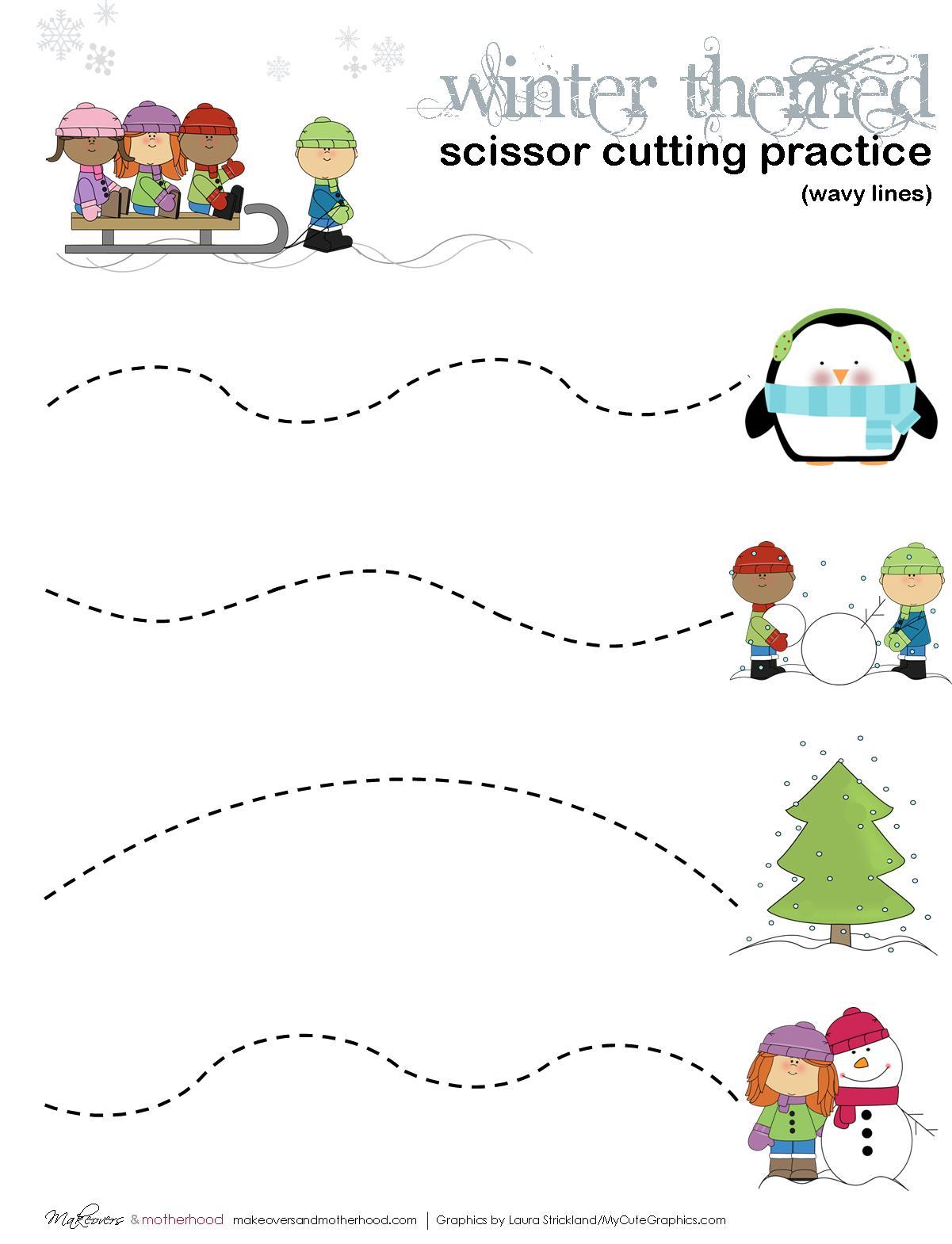 Free Preschool Worksheet Cutting Skills