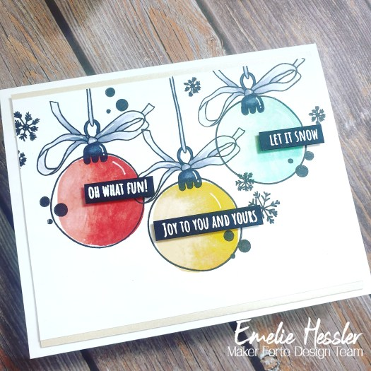 Traditional Christmas Cards with Pastel Colors