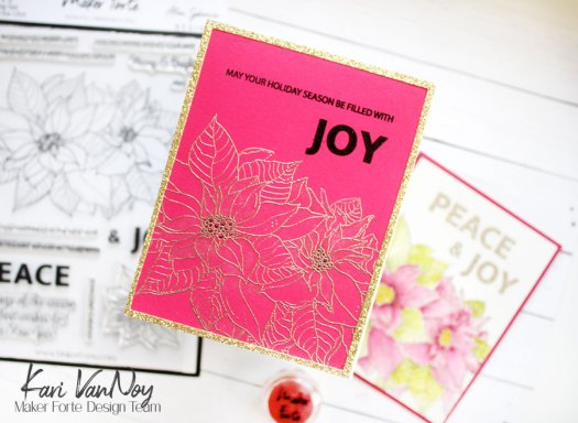 Easy and Fast Holiday Cards: Watercolor with Kaleidoscope Powder