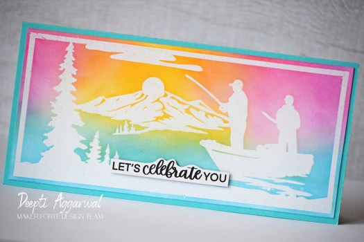 Heat Emboss Resist Father's Day Card