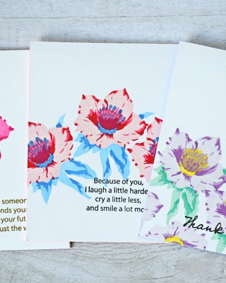 Layered Stamping - One Layered Flower Cards