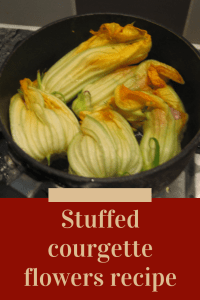 stuffed courgette flower recipe