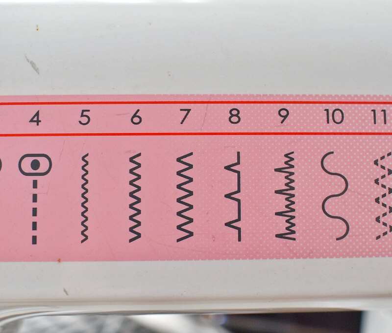 invisible stitch on machine