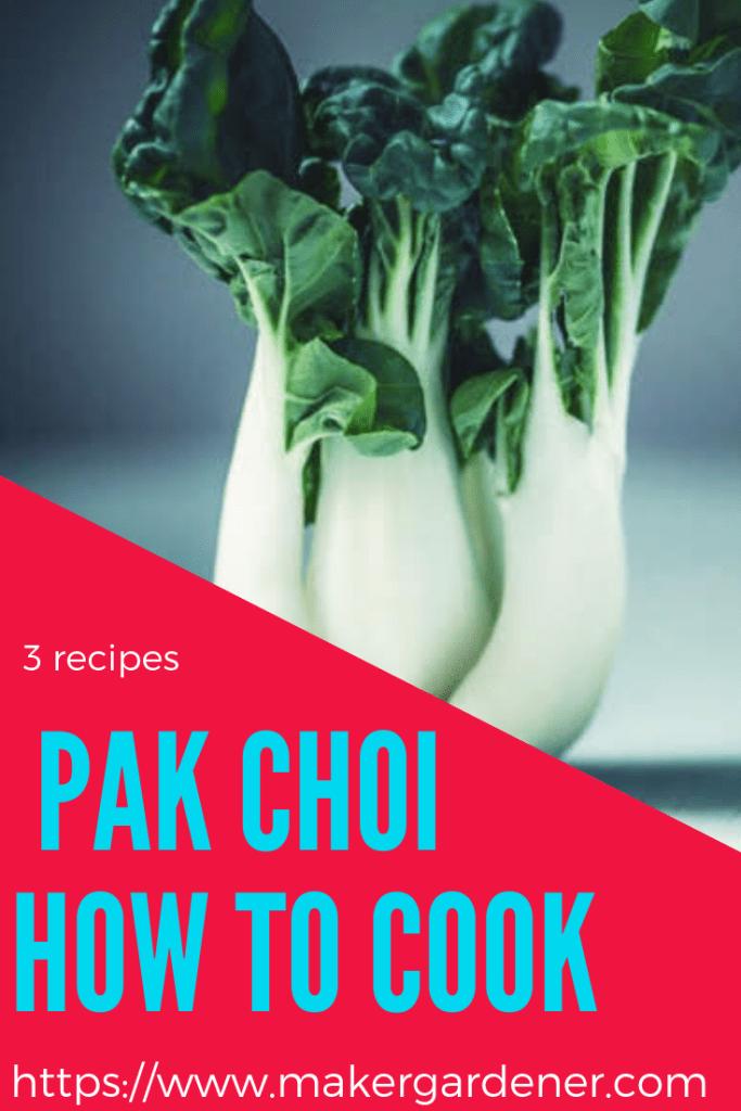 recipes using pak choi