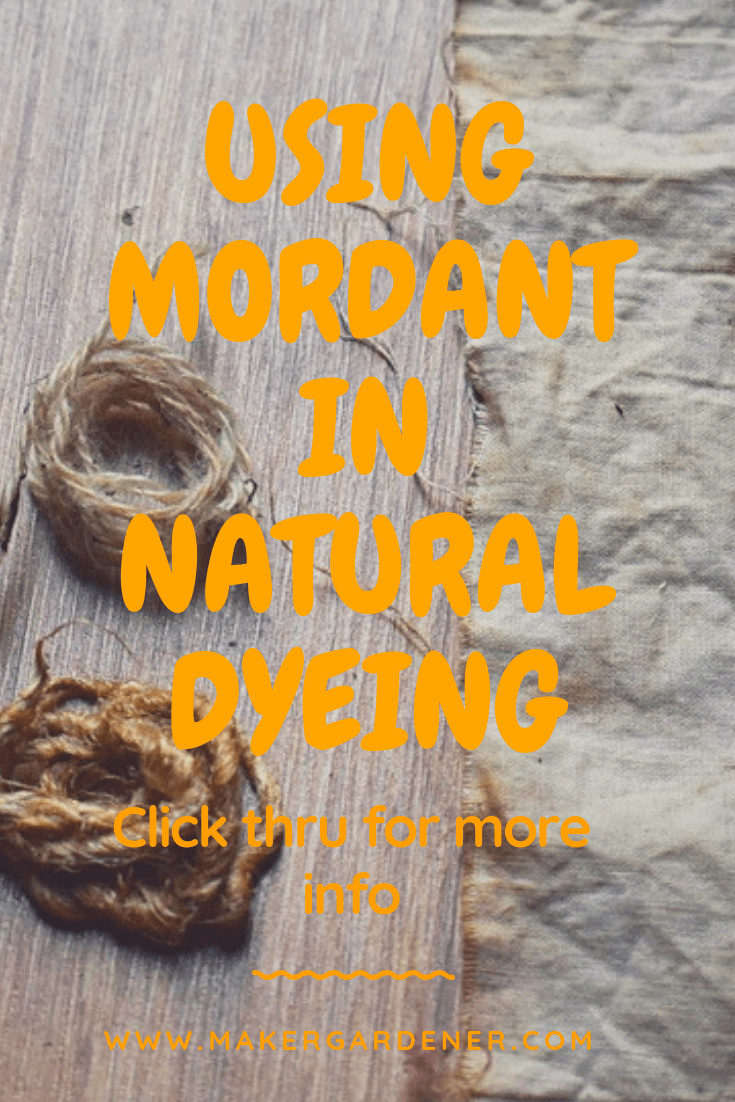 mordant in natural dyeing