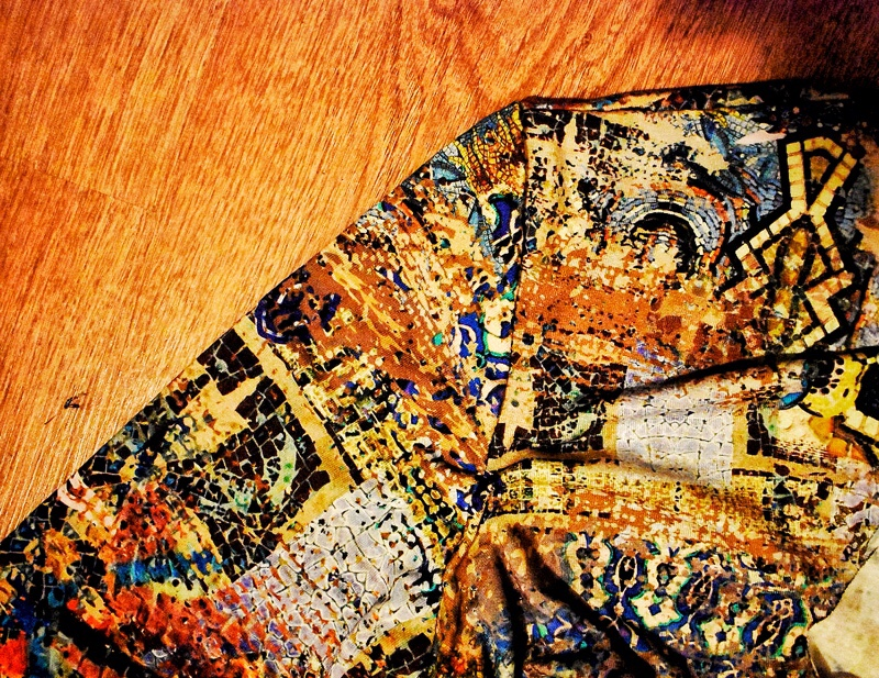 sleeves sewn on dress