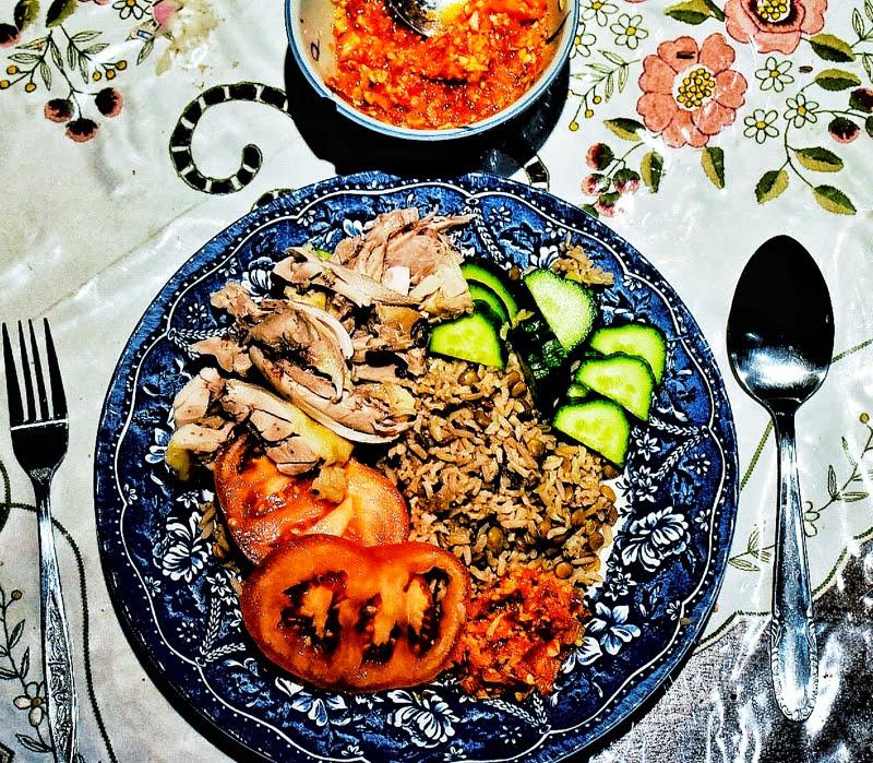 white cut chicken rice