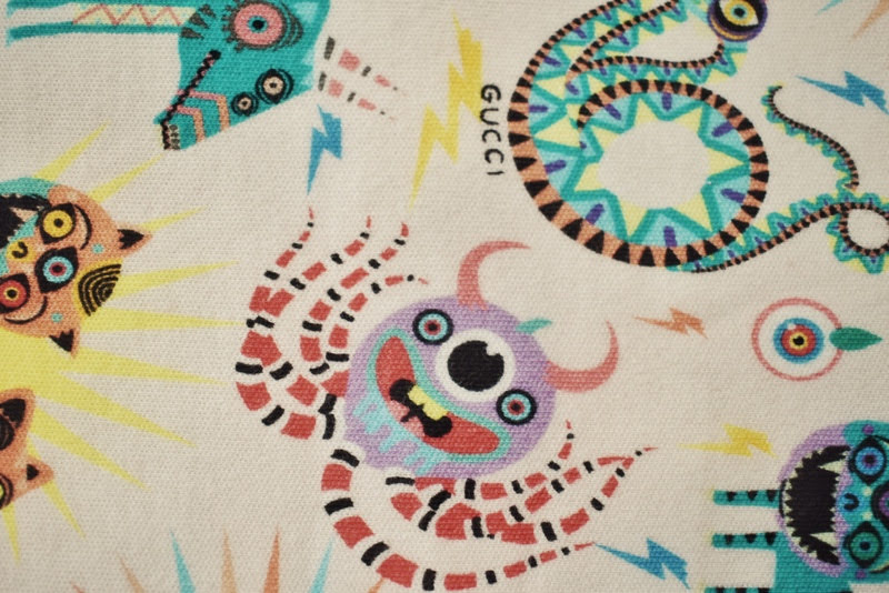 gucci pink cotton print