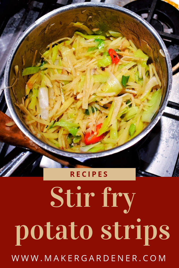 stir fry potato strip