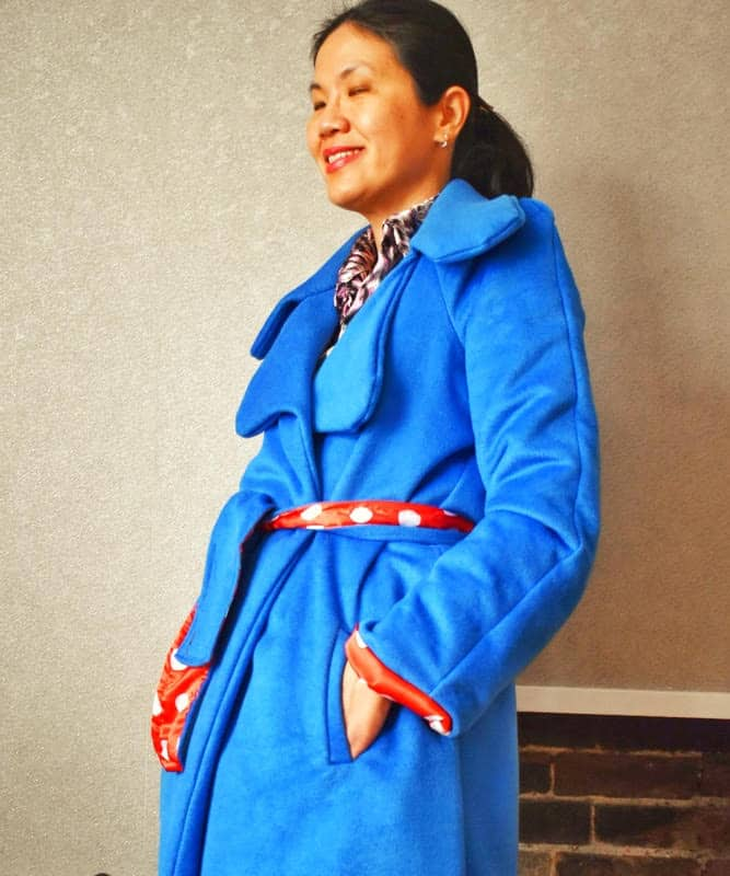 notch collar with lapel on coat