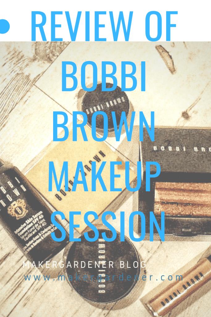 review of bobbi brown makeup session