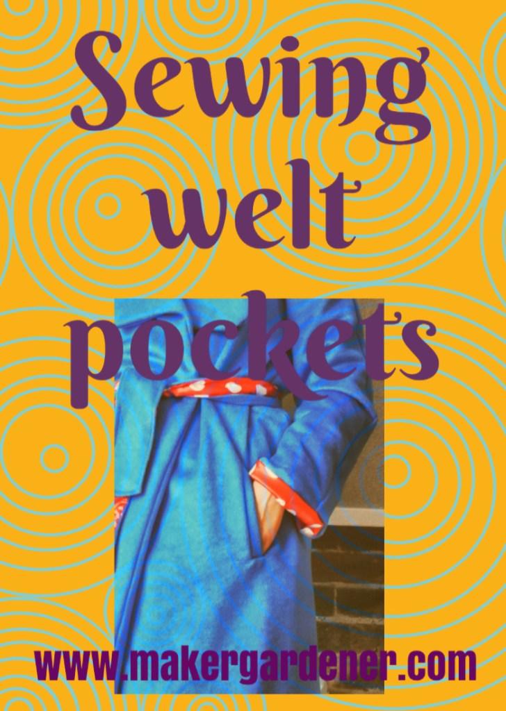 sewing welt pockets